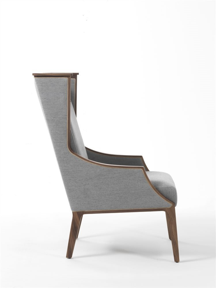 Liala Bergere Armchair lounge from Porada, designed by U. Asnago