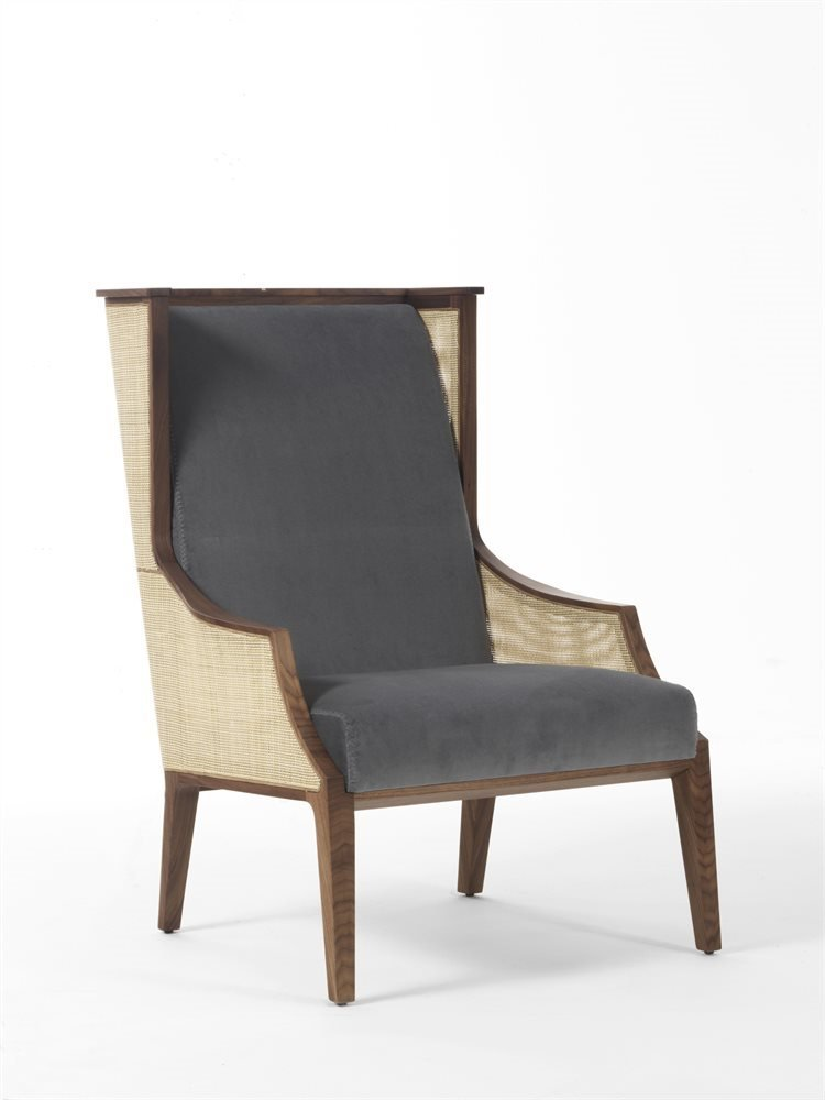 Liala Bergere Straw Armchair lounge from Porada, designed by U. Asnago