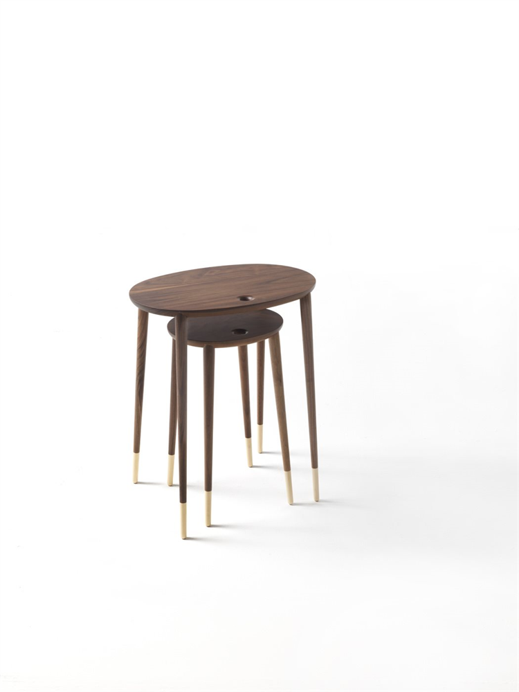 Rogers Side Table coffee from Porada, designed by C. Ballabio