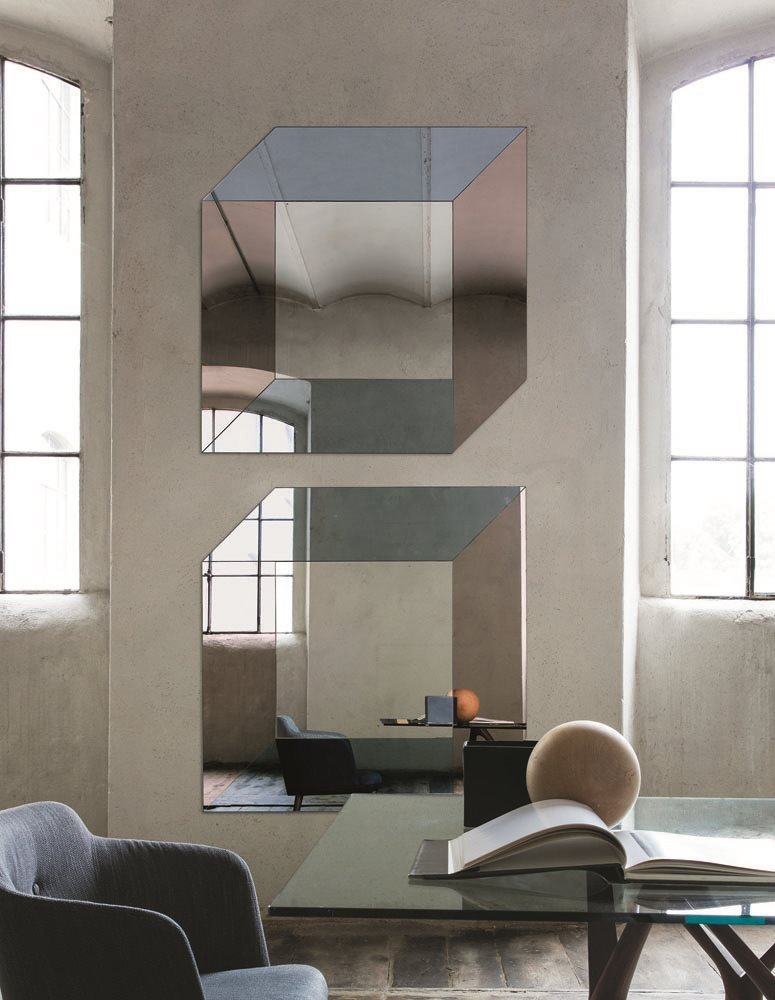 Escher Mirror from Porada, designed by T. Colzani