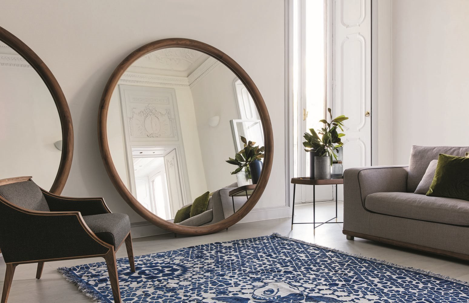 Giove Mirror from Porada, designed by T. Colzani