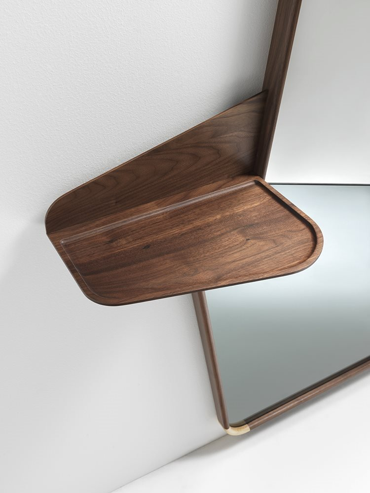 Ops 2 Mirror from Porada, designed by U. Asnago