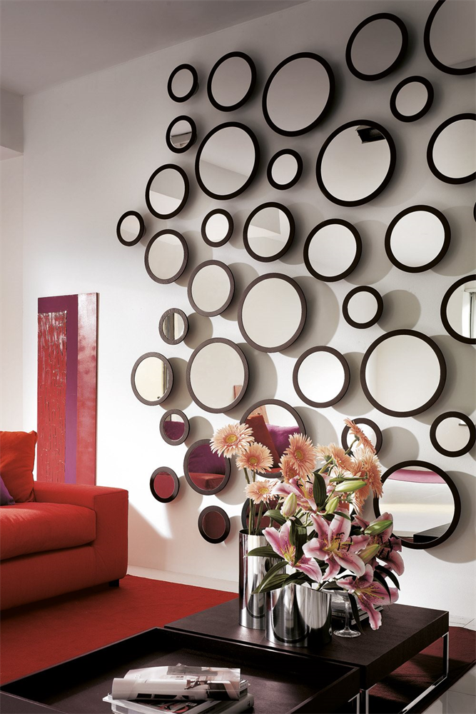 Stars Mirror from Porada, designed by T. Colzani