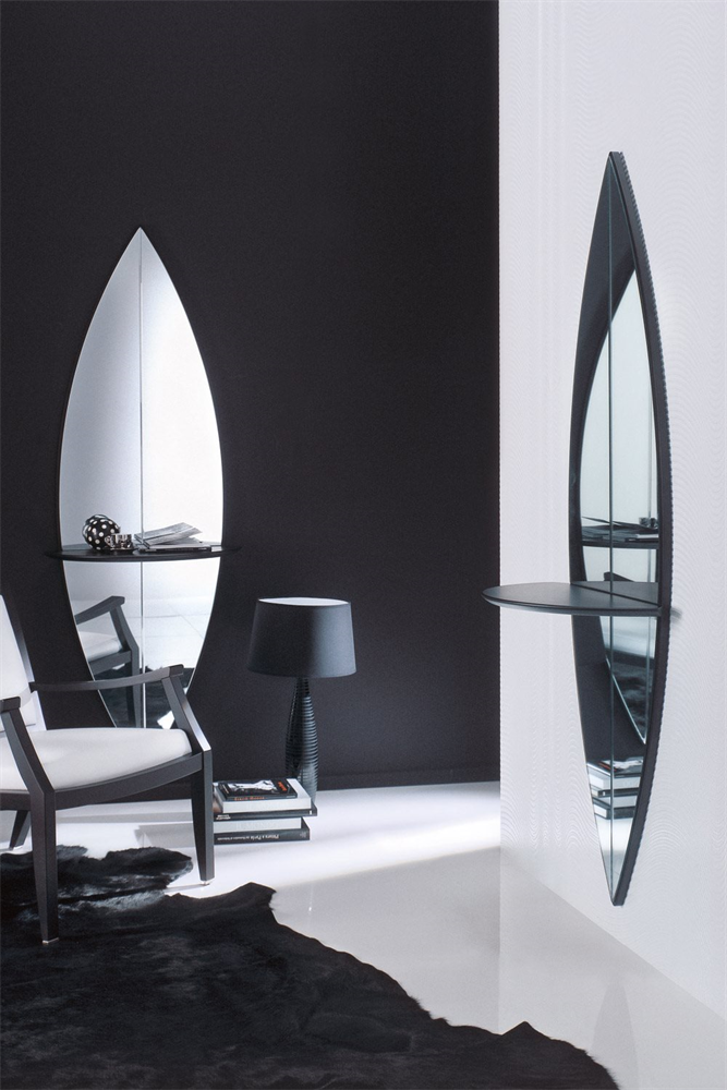 Surf Mirror from Porada, designed by M. Perego