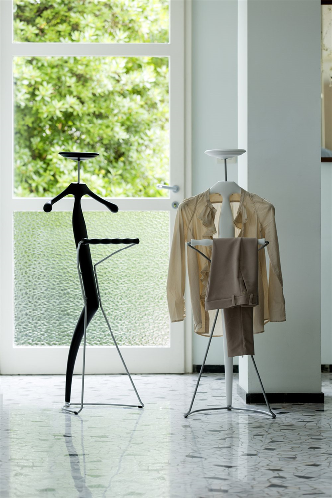Sir Bis Clothes Stand accessory from Porada, designed by M. Marconato and T. Zappa