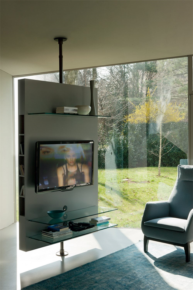 Mediacenter TV Stand unit from Porada, designed by T. Colzani