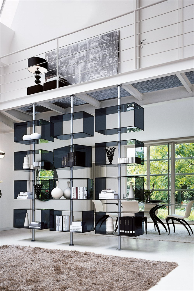 Domino Wall System storage from Porada, designed by T. Colzani