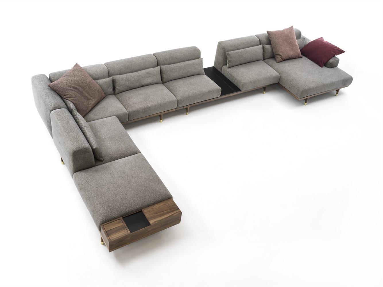 Porada Argo Sofa Leather Contemporary Living Room
