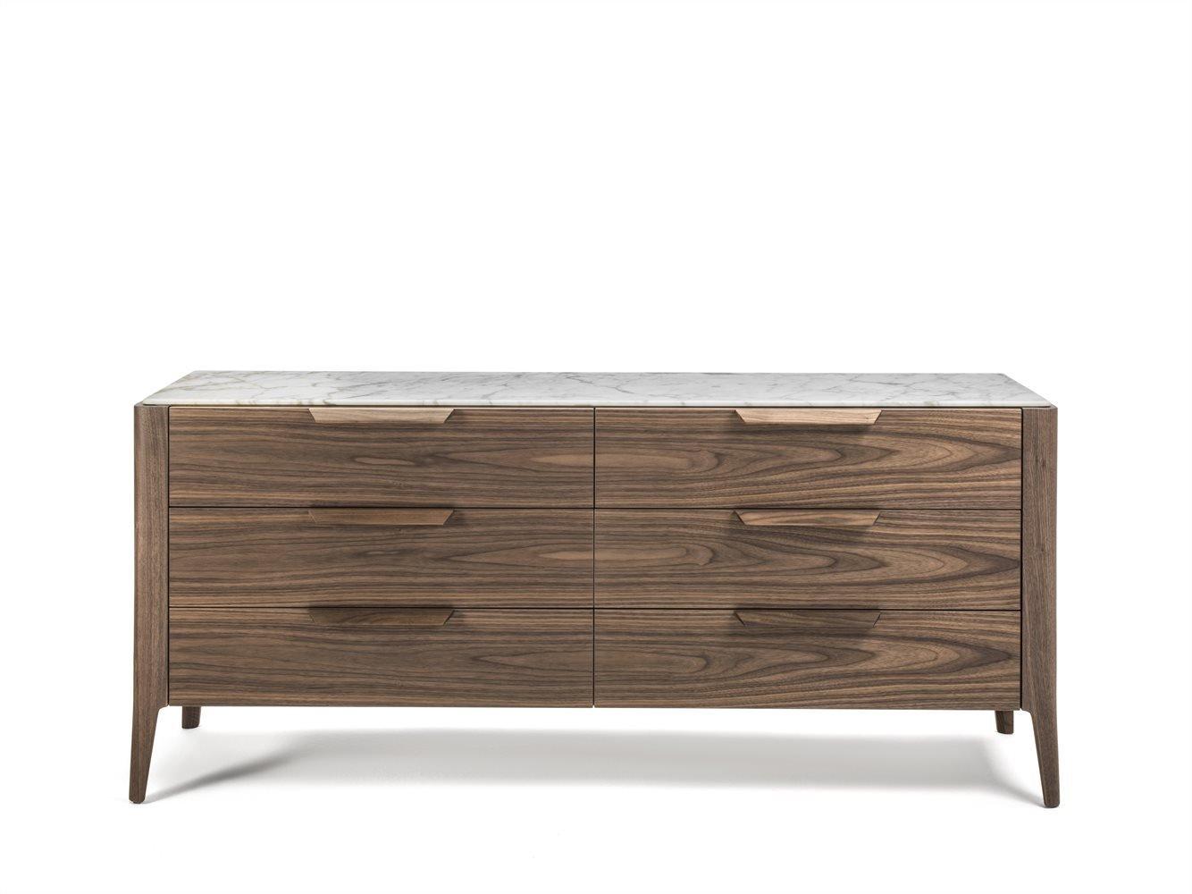 Ziggy Night 6 Chest Drawer cabinet from Porada, designed by C. Ballabio