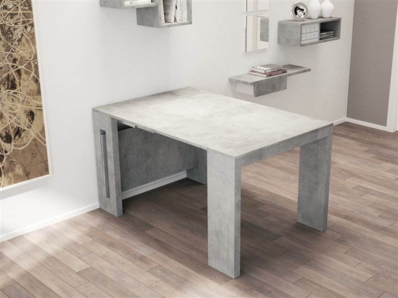 Casabianca Erika Extendable Console Dining Table Concrete ...