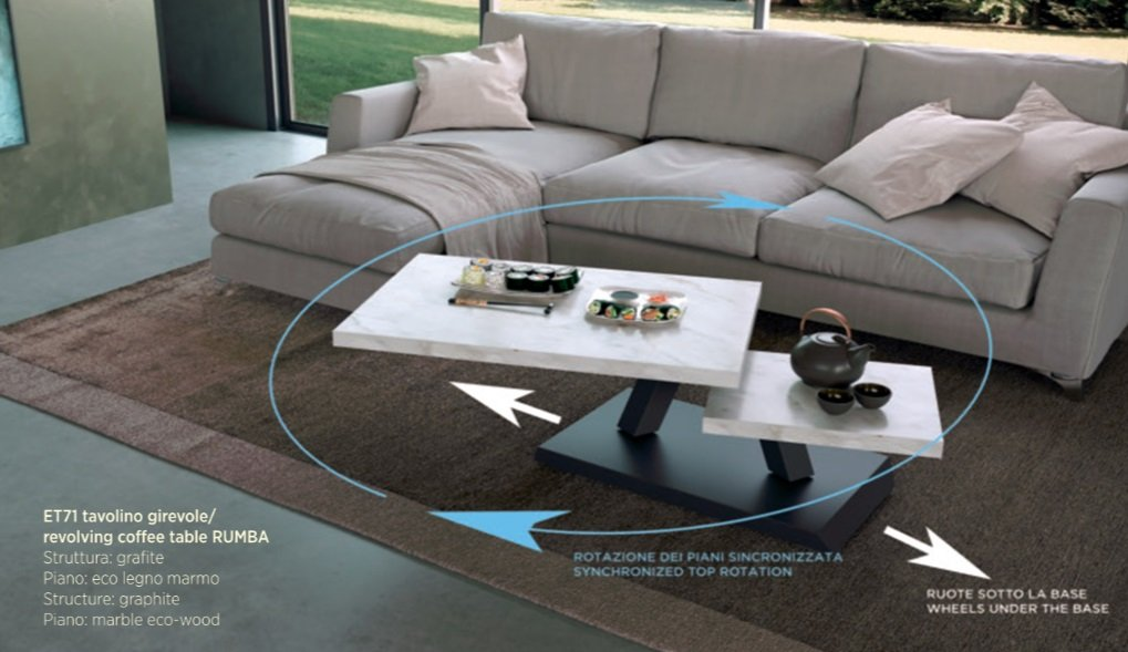 Rumba Revolving Coffee Table, coffee table from Easyline