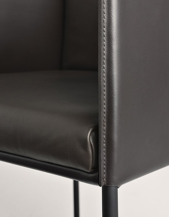 Square Armchair lounge from Frag, designed by Christophe Pillet