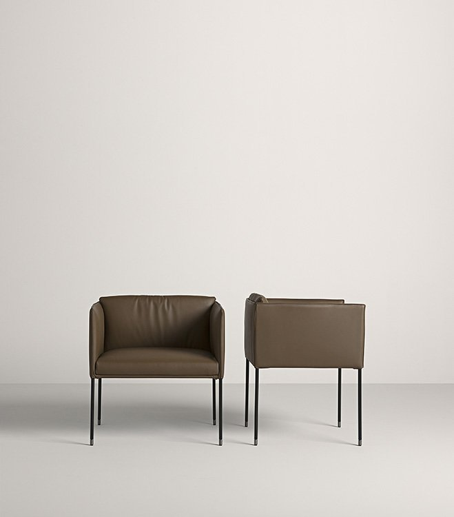 Square L Lounge Chair from Frag, designed by Christophe Pillet
