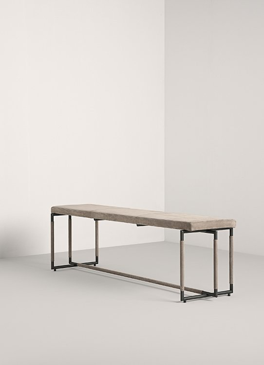 Padded Bak Bench from Frag, designed by Ferruccio Laviani