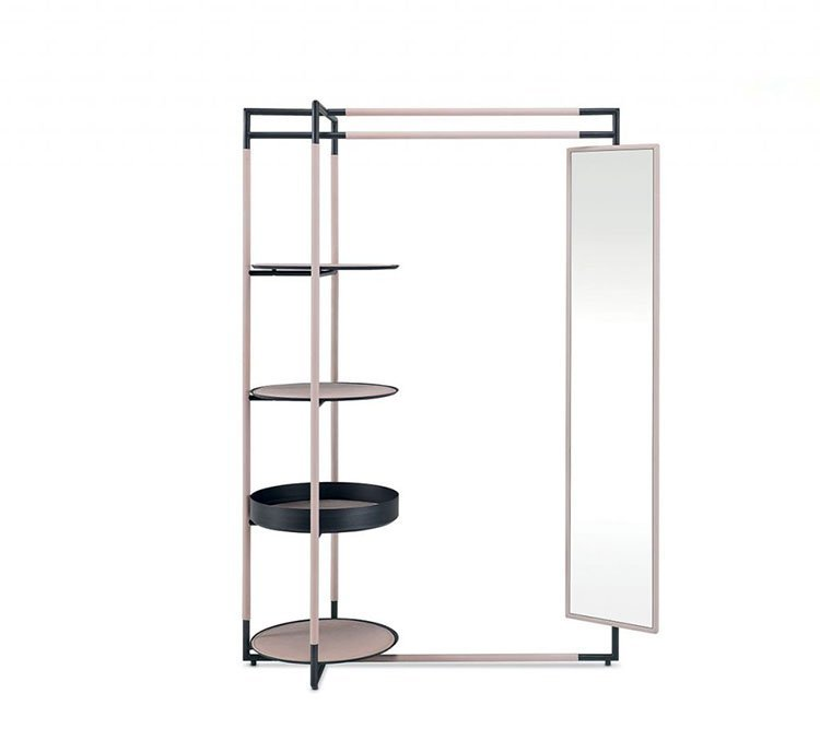 Bak Valet Stand Mirror accessory from Frag, designed by Ferruccio Laviani