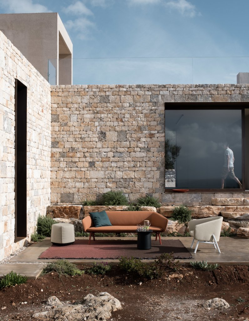 Tuile outdoor sofa from Kristalia, designed by Patrick Norguet