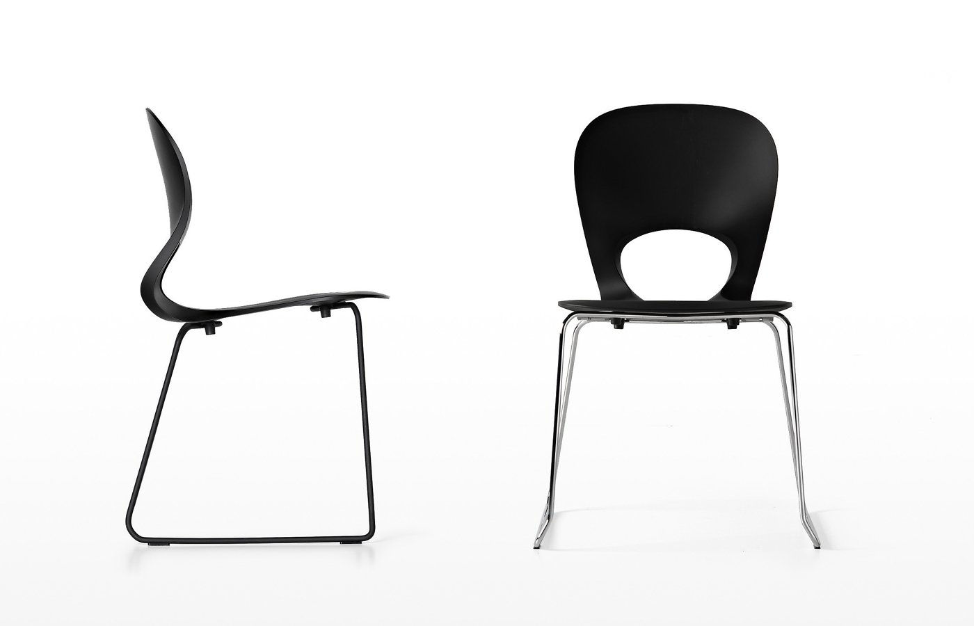 Pikaia slide base chair from Kristalia, designed by Angelo Natuzzi