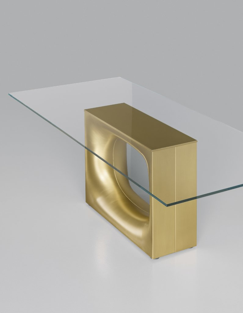 Holo Table dining from Kristalia, designed by Kensaku Oshiro
