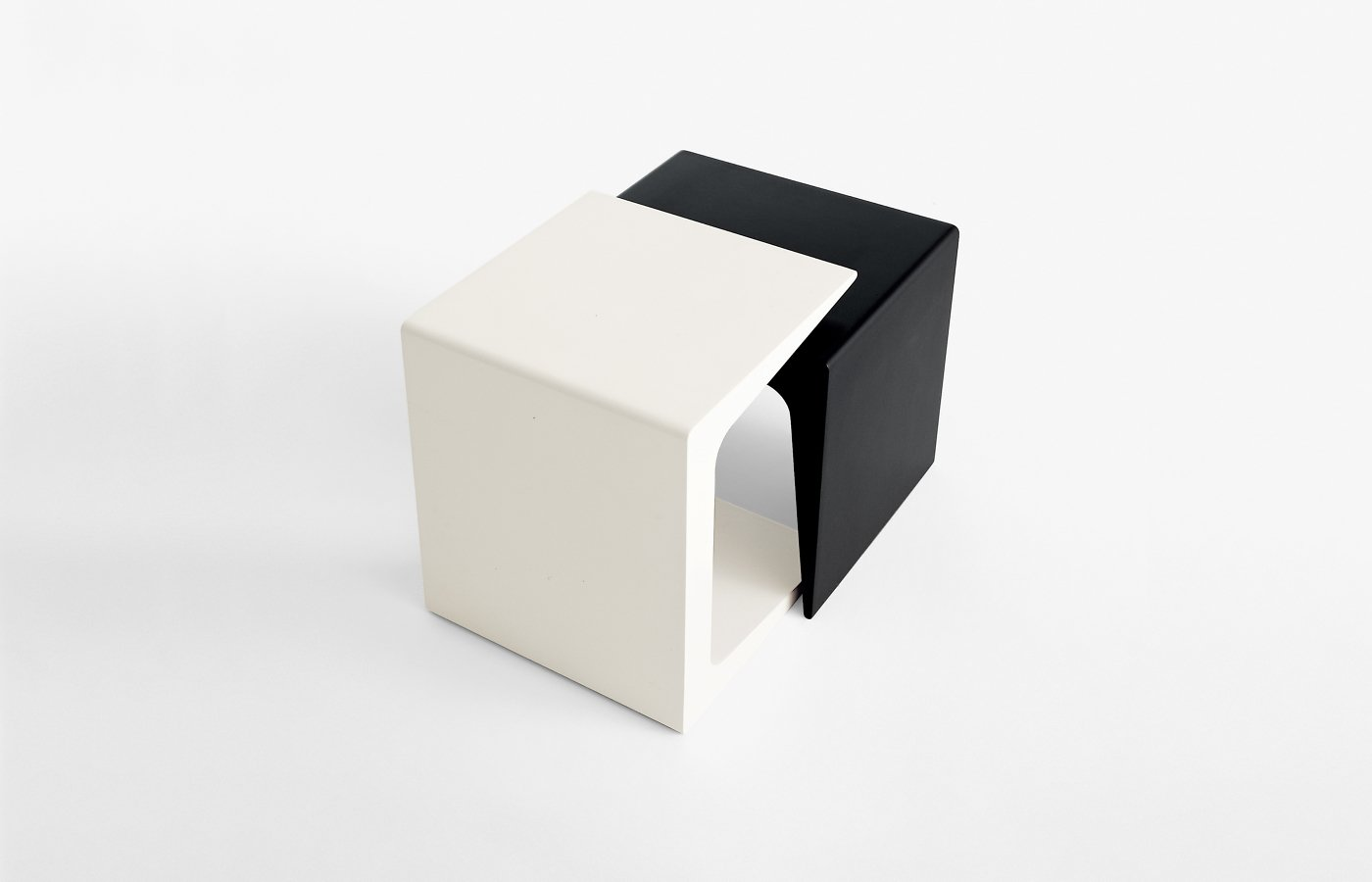 CU Side Table coffee from Kristalia, designed by Monica Graffeo