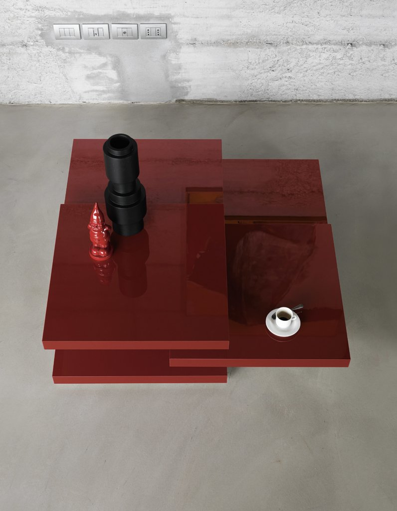 Rotor Coffee Table end from Kristalia, designed by Luciano Bertoncini