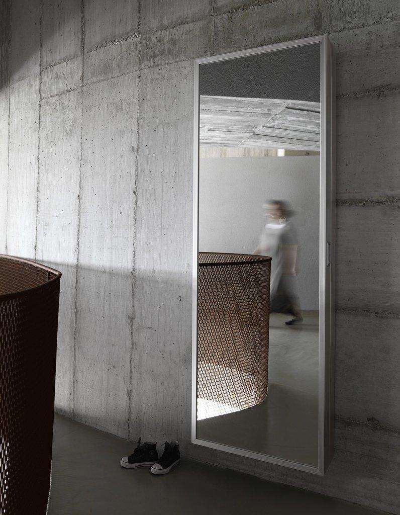 Box Wall Mirror from Kristalia, designed by Luciano Bertoncini