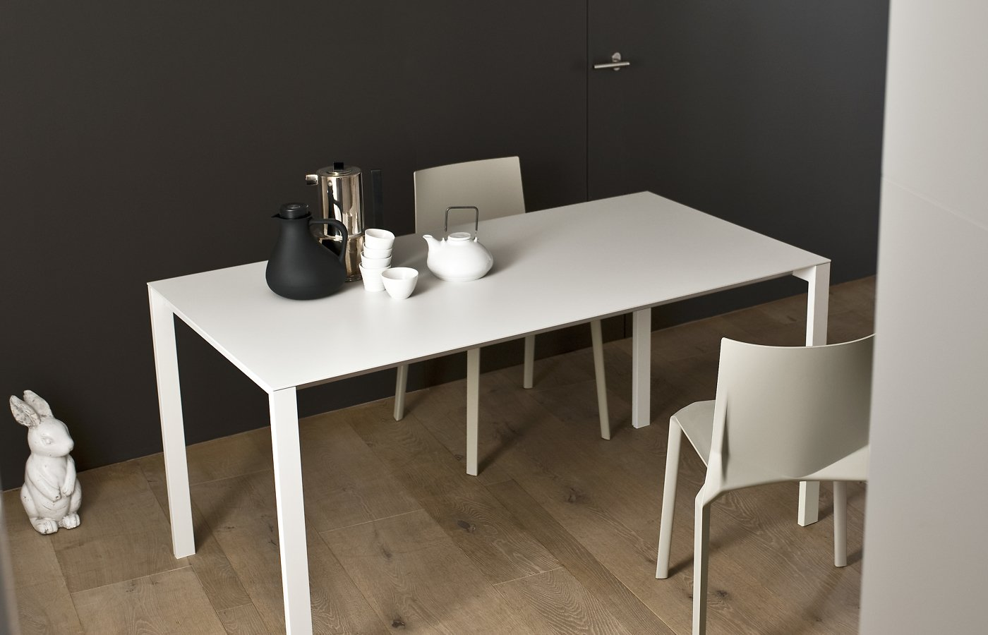Thin-K Glass Table dining from Kristalia