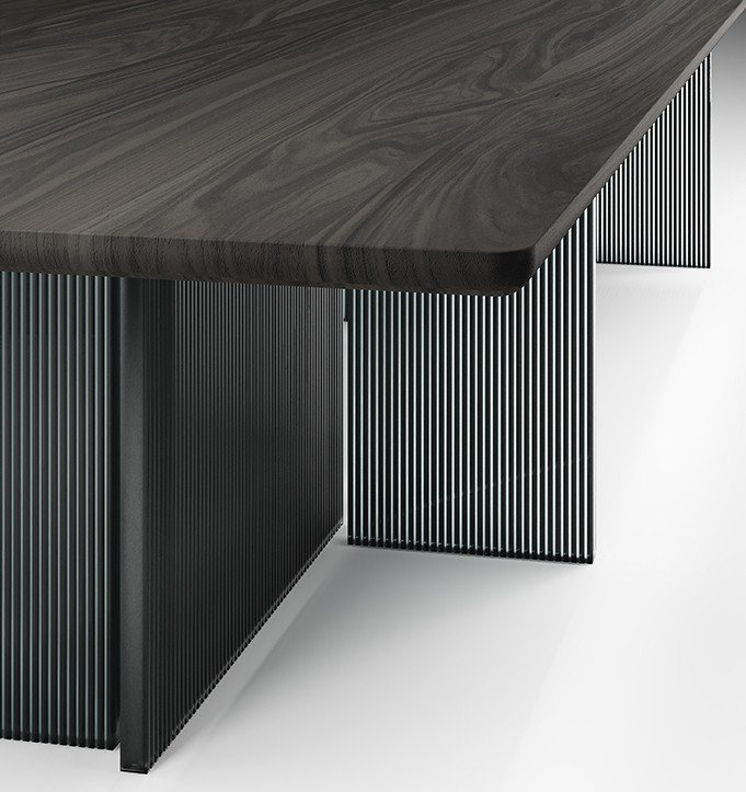 Big Wave Dining Table from Fiam