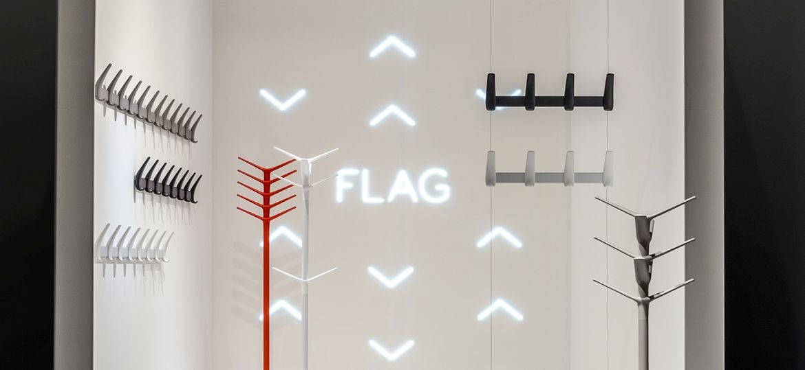 Flag 5145 Coat Hanger accessory from Pedrali, designed by Pio and Tito Toso