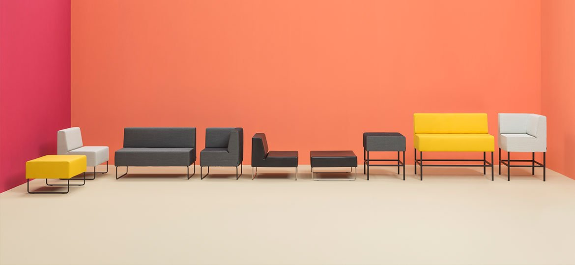 Host 200 Modular Seat sofa from Pedrali, designed by Pedrali R&D