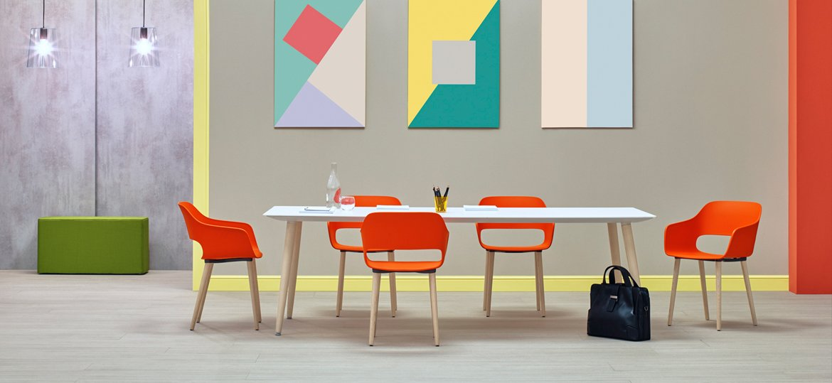 Babila Table dining from Pedrali, designed by Odoardo Fioravanti