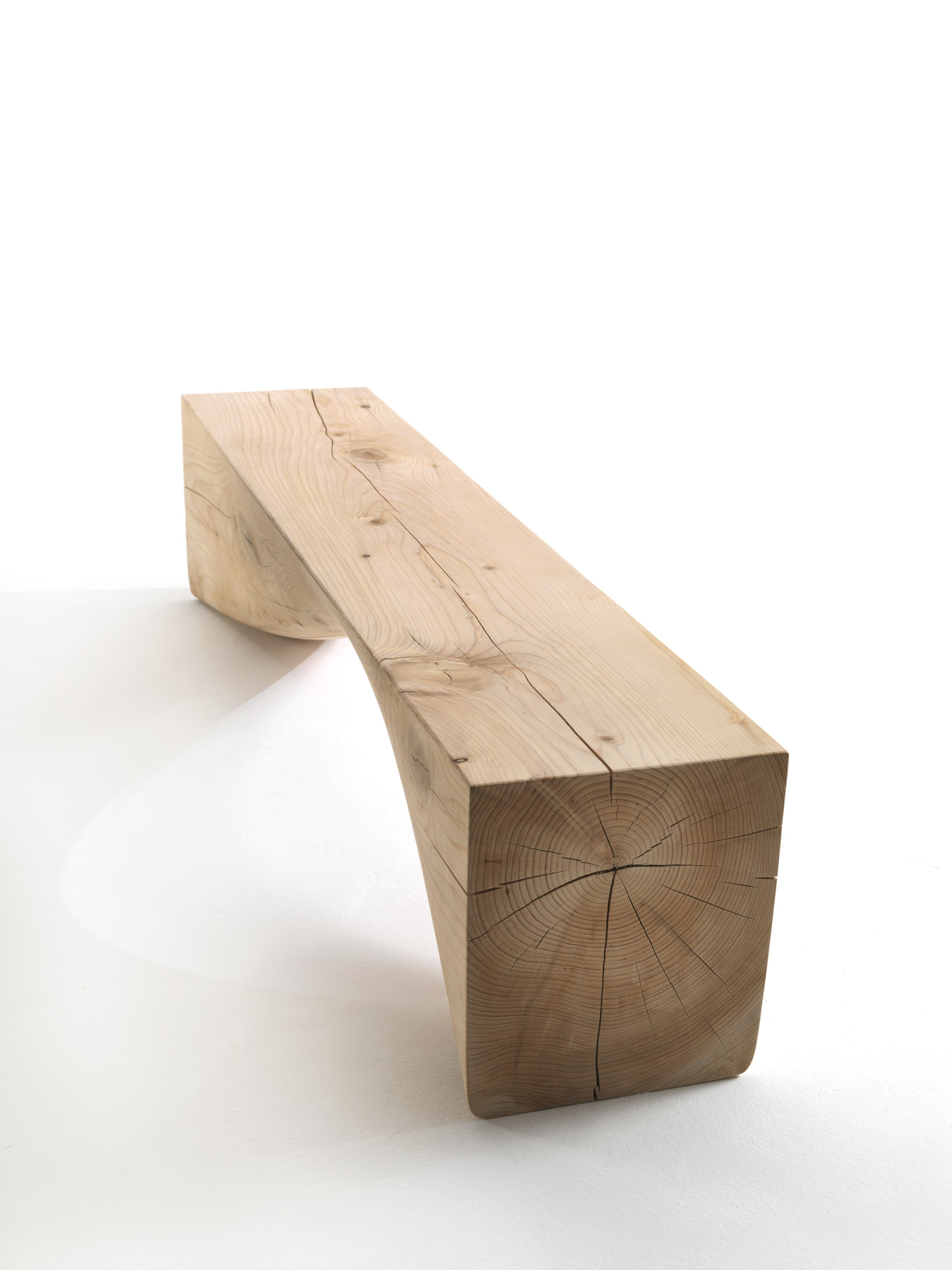 Curve Bench from Riva 1920, designed by Brodie Neill