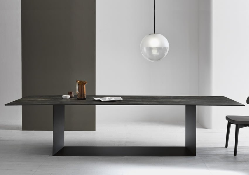 T5 Glass Dining Table from Tonelli, designed by Giulio Mancini