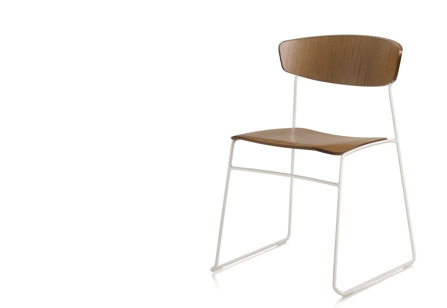 Wolfgang Sled Metal Chair office from Fornasarig