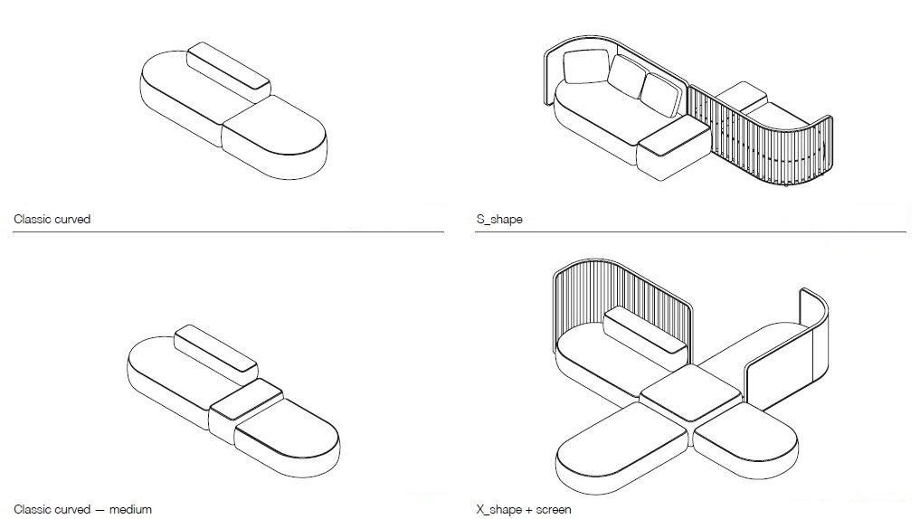 Plus Sofa from lapalma, designed by Francesco Rota