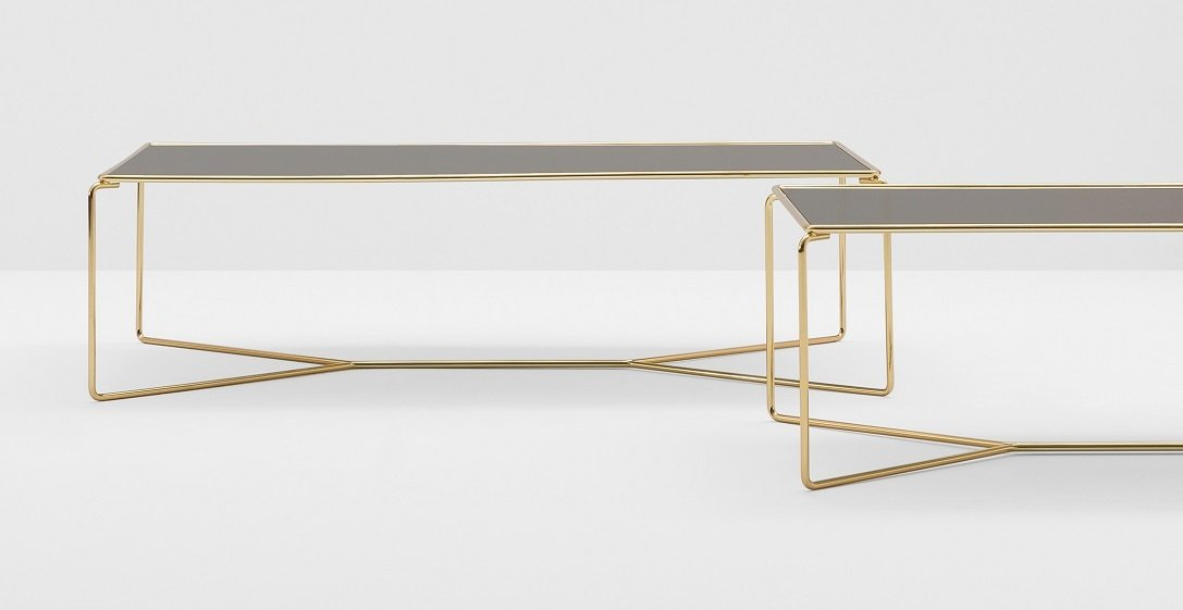 Marcel Coffee Table end from Billiani, designed by Kazuhide Takahama