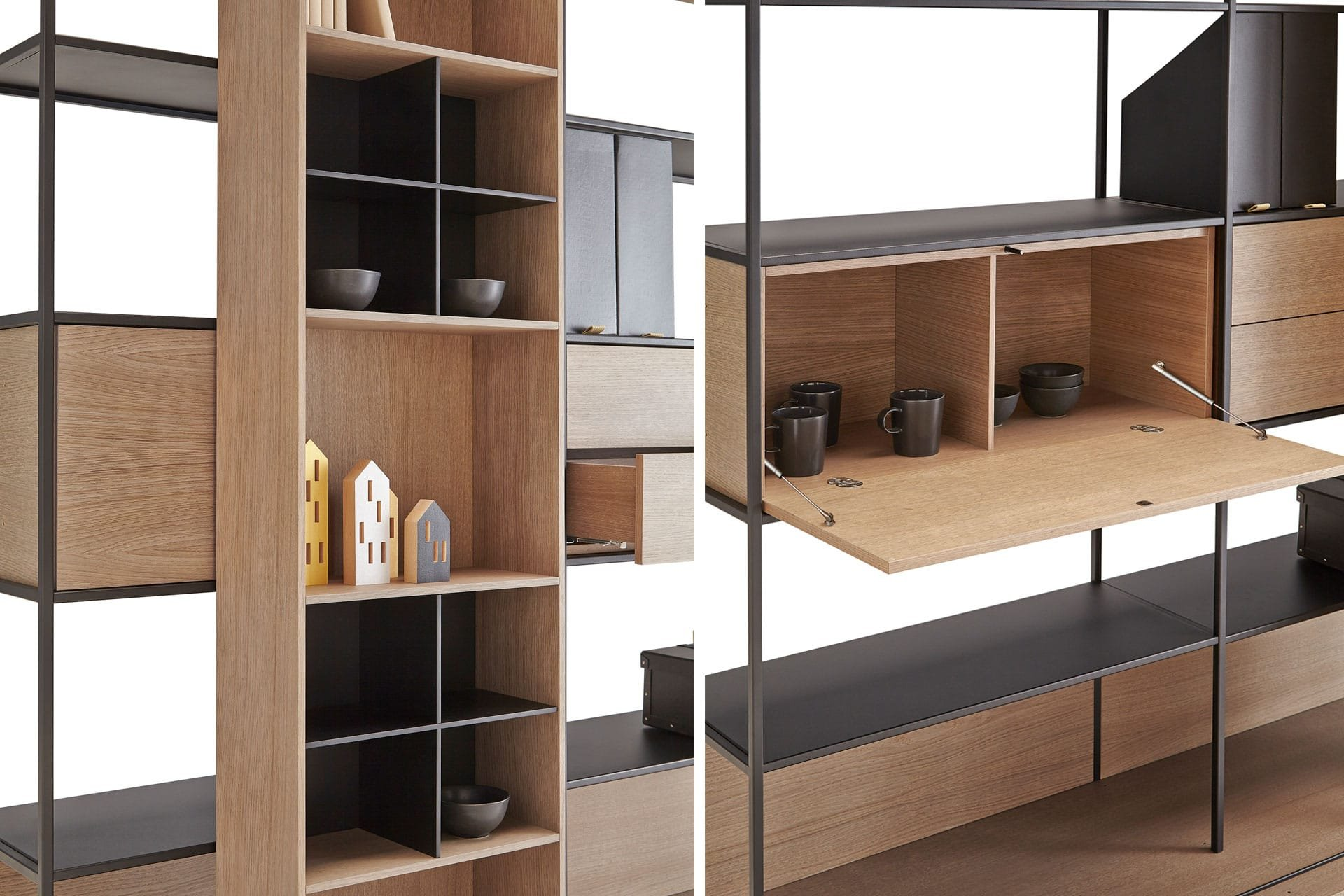 Literatura Open Bookcase from Punt Mobles