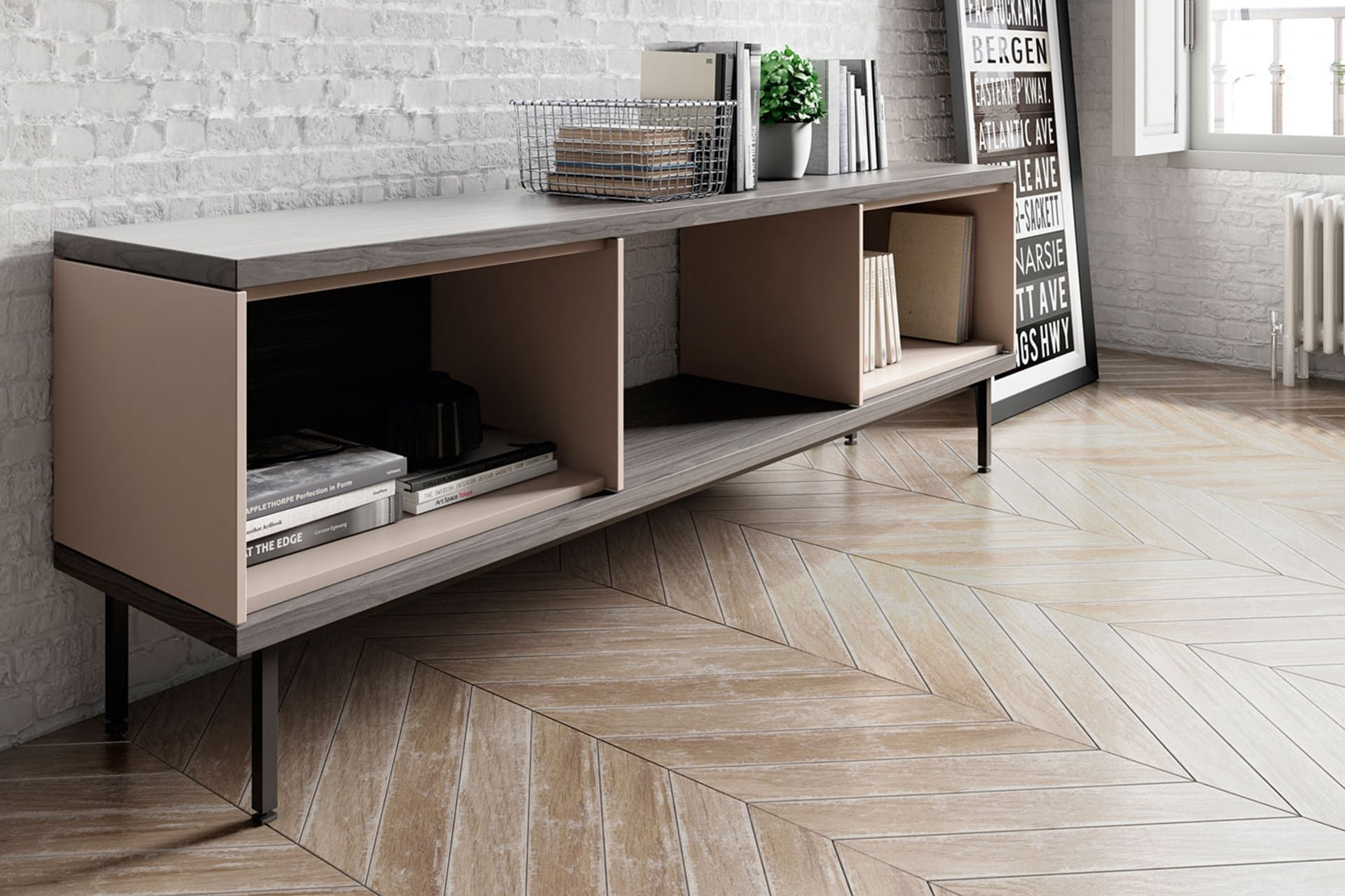Slats Sideboard cabinet from Punt Mobles, designed by Marc Krusin