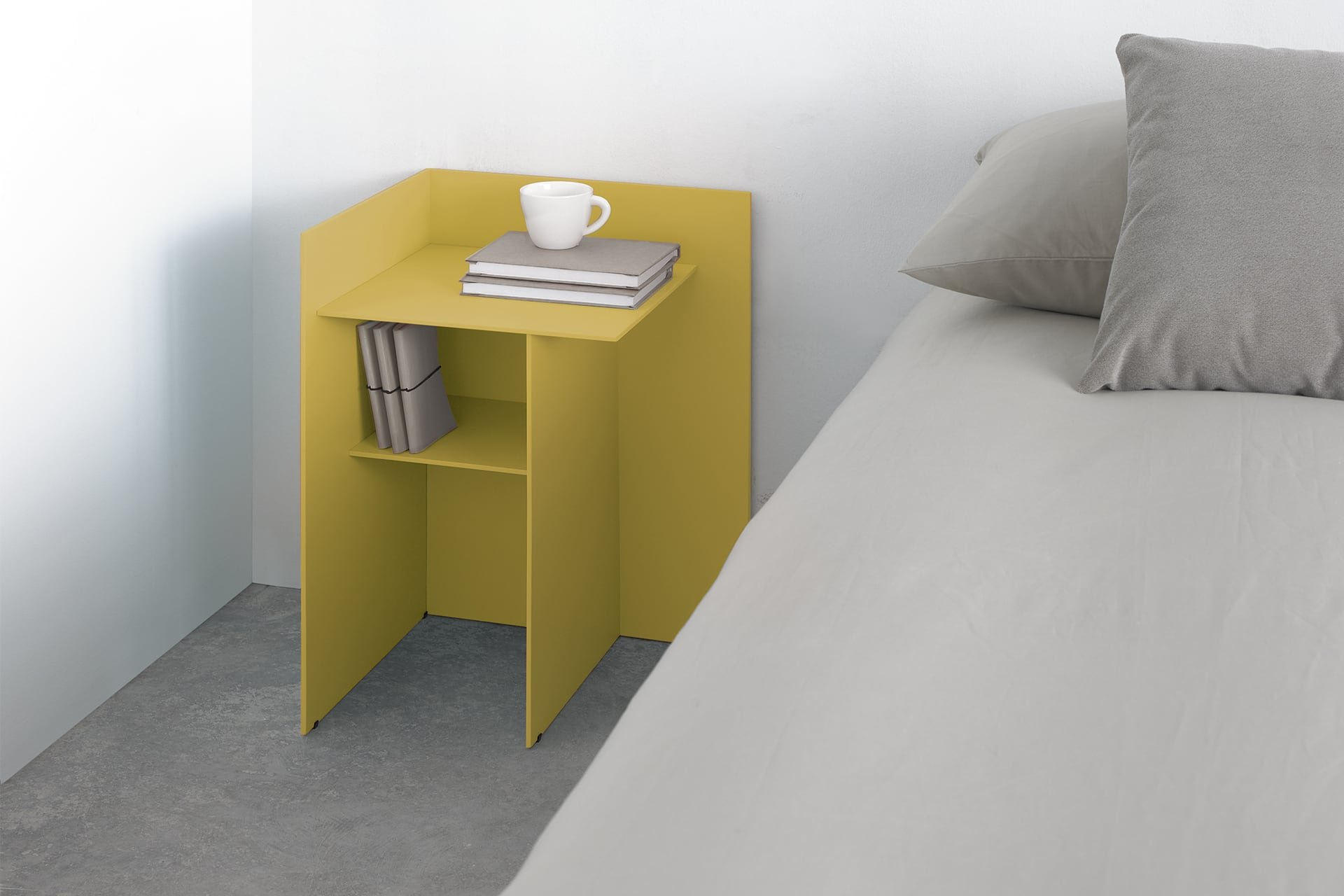 Cuatro Bedside Table end from Punt Mobles, designed by Nathan Yong