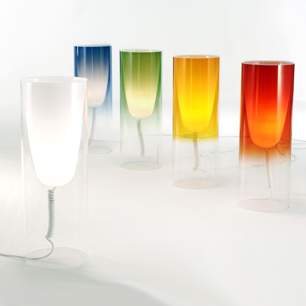 Toobe Table lighting from Kartell, designed by Ferruccio Laviani