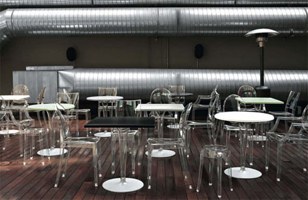 Top Top Bistro dining table from Kartell, designed by Philippe Starck
