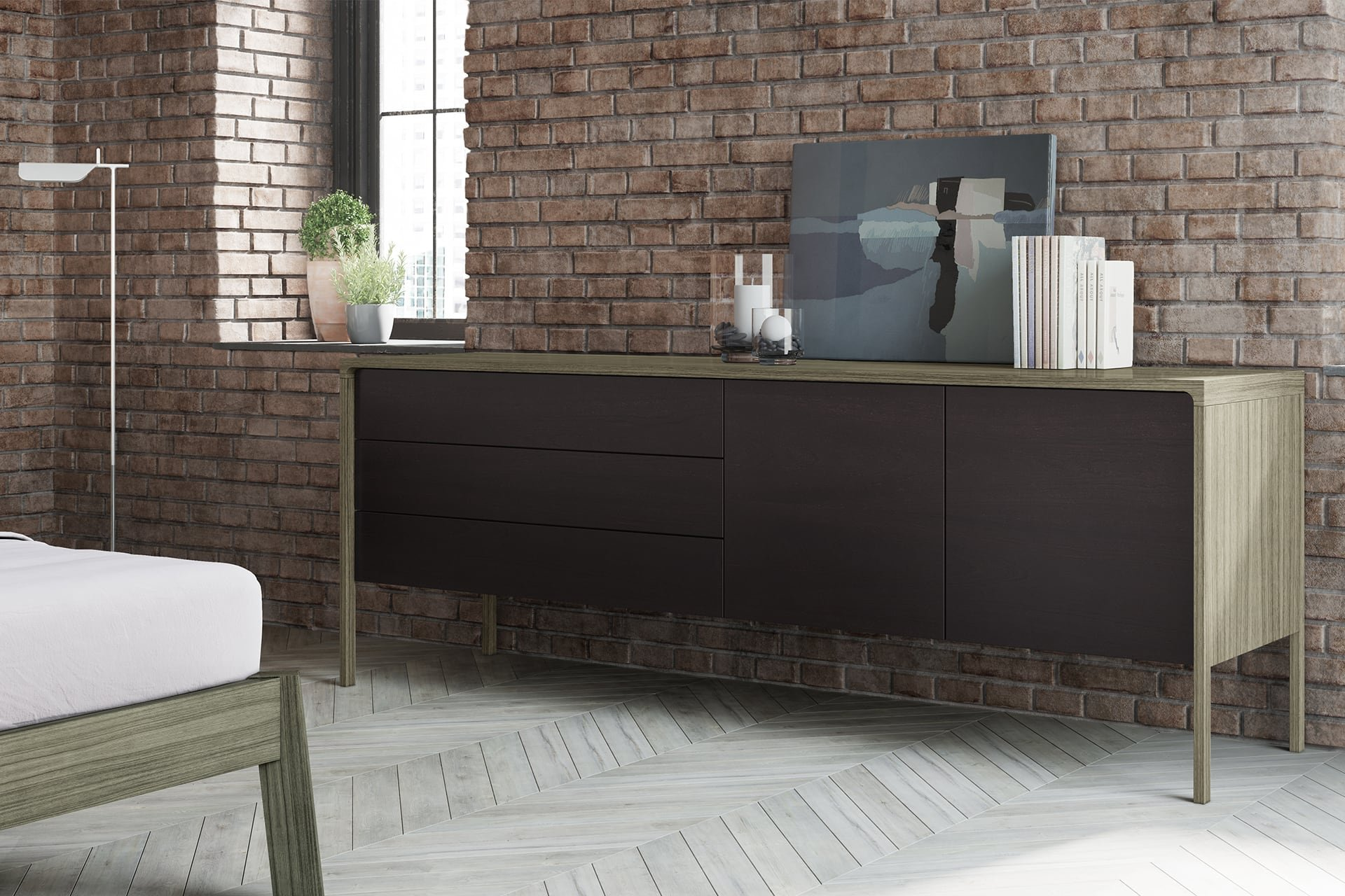Tactile Sideboard cabinet from Punt Mobles, designed by Terence Woodgate