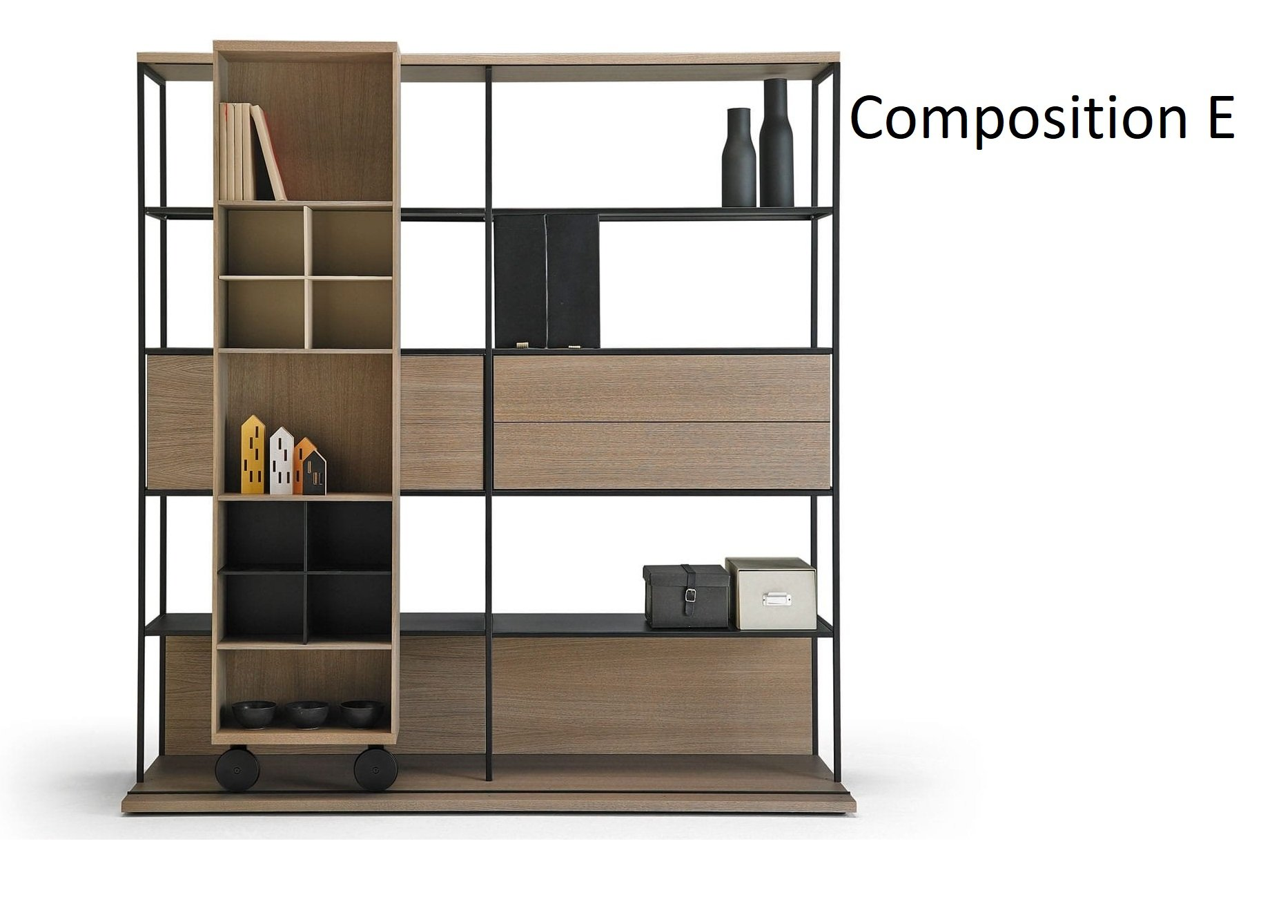 Literatura Open Bookcase from Punt Mobles, designed by Vicent Martinez
