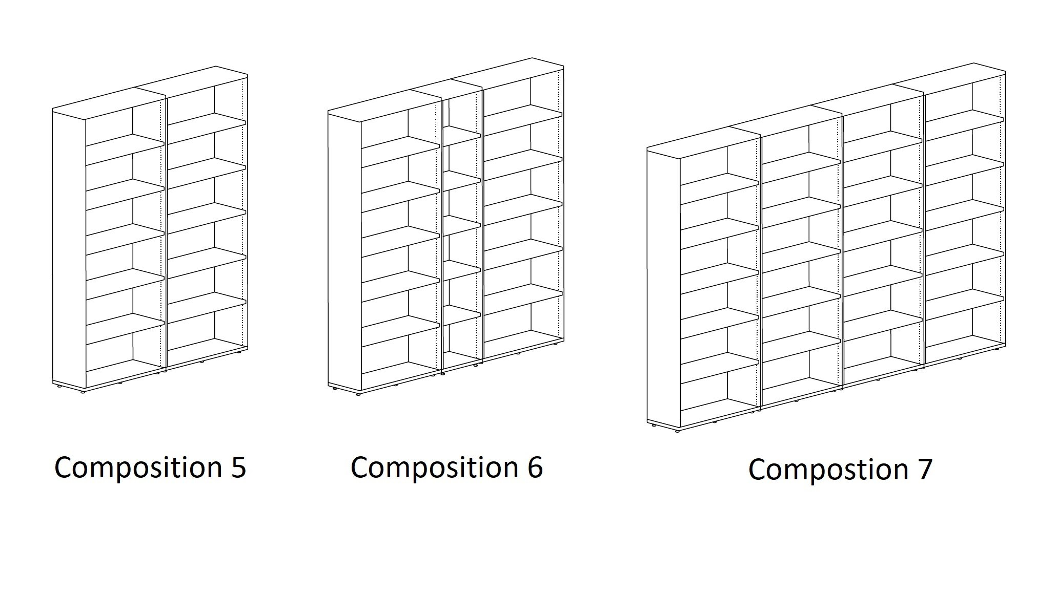 Literatura Classic Bookcase from Punt Mobles, designed by Vicent Martinez