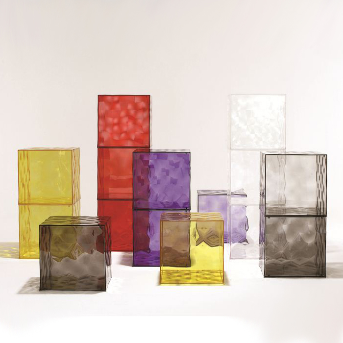 Optic storage from Kartell, designed by Patrick Jouin