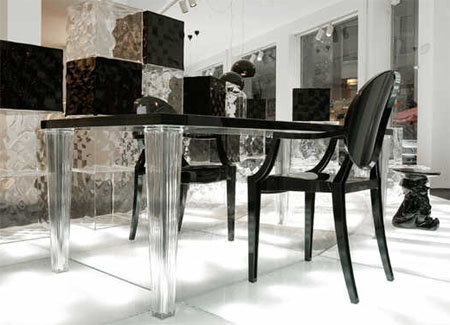 Top Top dining table from Kartell, designed by Philippe Starck
