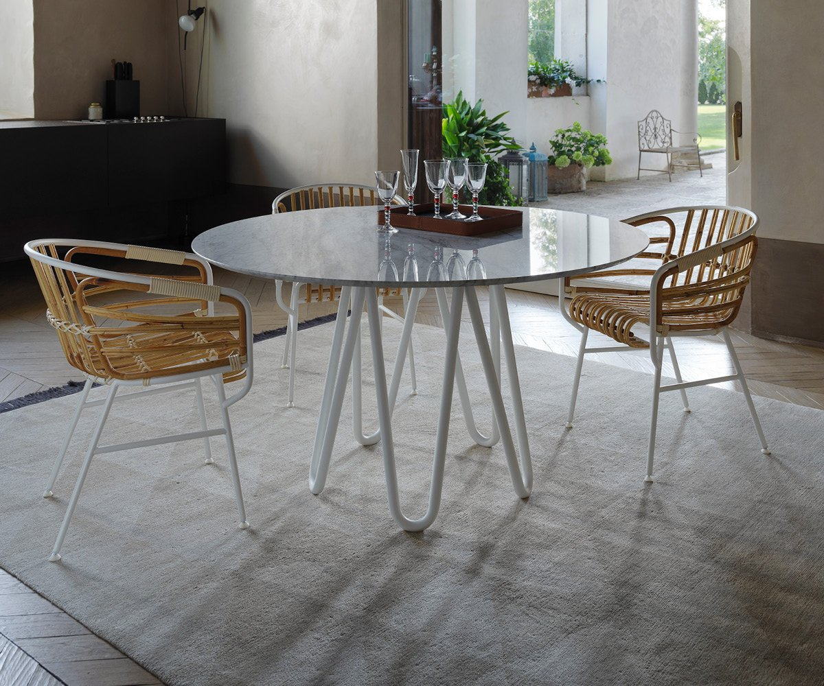 Raphia Rattan Chair from Casamania, designed by Lucidipevere