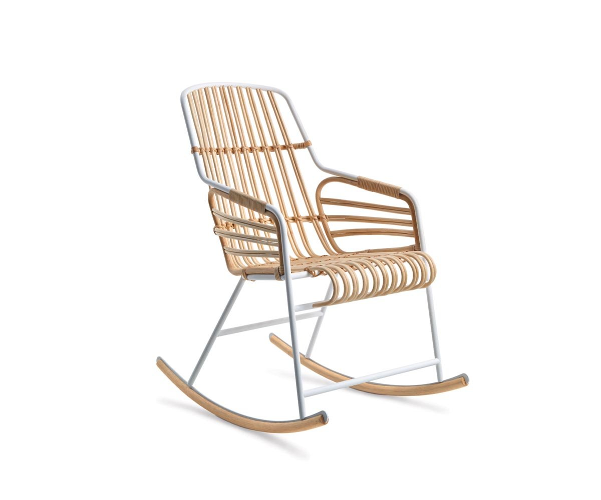 Raphia Rocking Chair from Casamania, designed by Lucidipevere