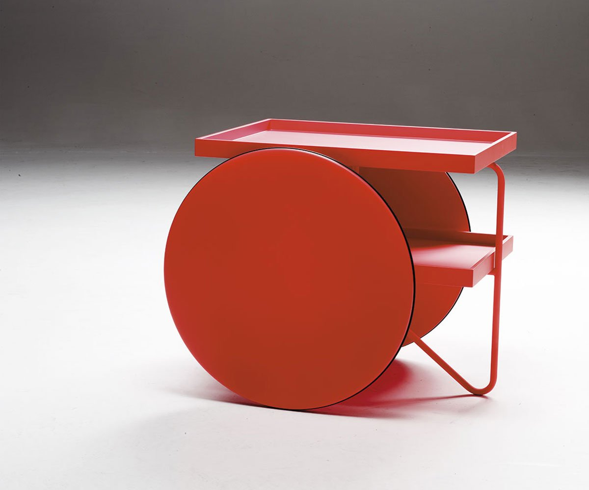 Chariot Table end from Casamania, designed by GamFratesi