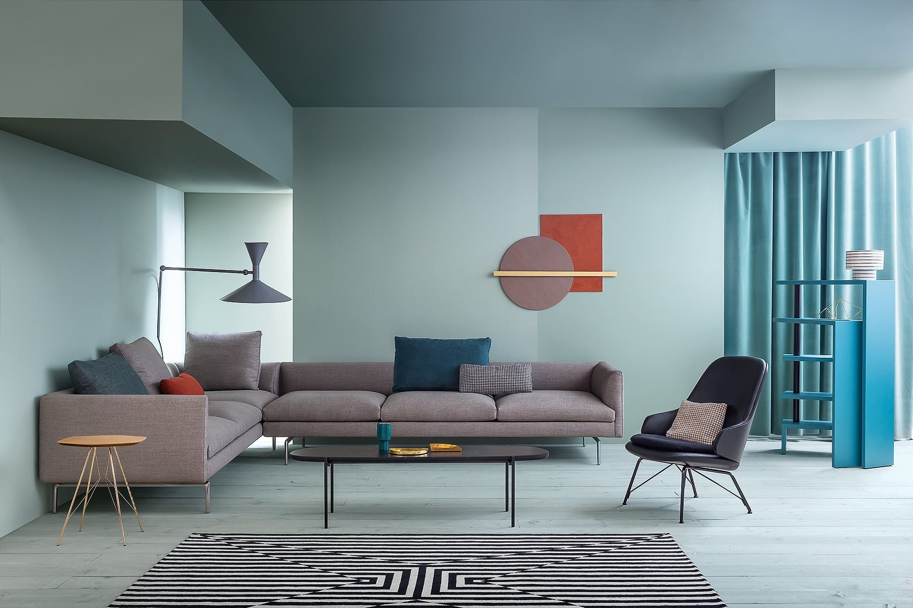 Flamingo Sofa modular from Zanotta, designed by Damian Williamson