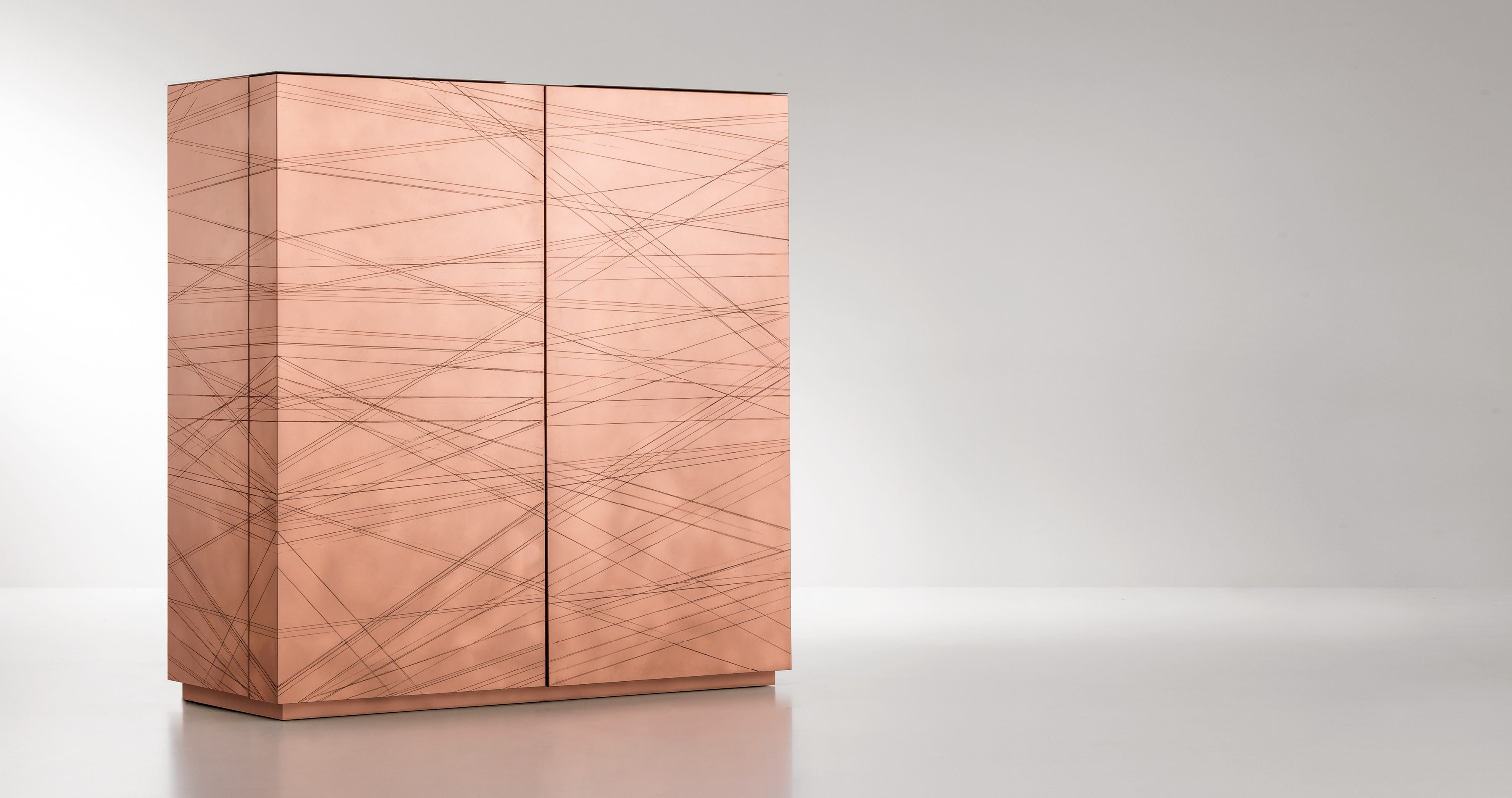 Graffio Cabinets from De Castelli, designed by Paolo Benevelli
